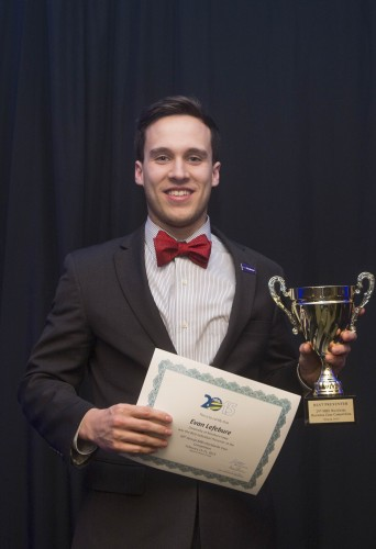NIBS 2015 - Best Individual Presenter - Evan Lefebure